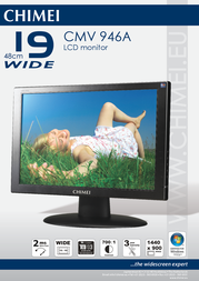 """Chimei 19"""" widescreen LCD monitor CMV 946A Leaflet"""