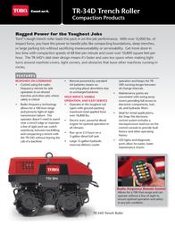 Toro TR-34D Trench Roller (Diesel) Product Datasheet