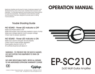 Epiphone ep-sc210 User Guide