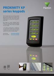 Paxton Proximity keypad KP50 355-110-US Leaflet