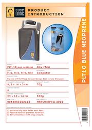 Case Logic Slip-in PDA Case - Blue Neoprene universal PLT10 Leaflet