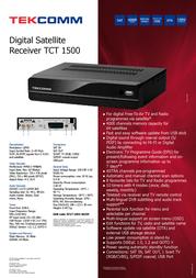 Tekcomm TCT1500 TCT 1500 Leaflet