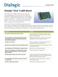Dialogic DIVA Server V-4BRI-8 306-218 Leaflet