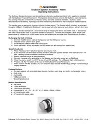 Celestron SkyScout Speaker 93985 Leaflet