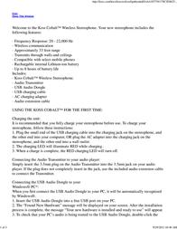 Koss Cobalt 157984 User Manual