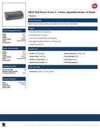 Swingline GBC 3230 7704270 Leaflet