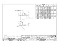 Richco AL-10 Aluminium Mounting Clip Aluminium AL-10 Data Sheet