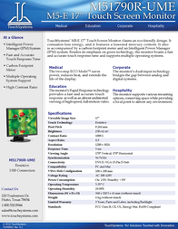 TouchSystems M51790R-UME Leaflet