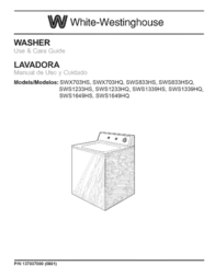 White Westinghouse SWS1233HQ User Manual