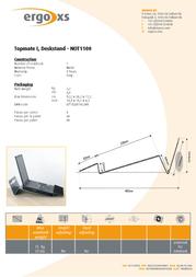 ErgoXS Topmate I Deskstand NOT1100 Leaflet