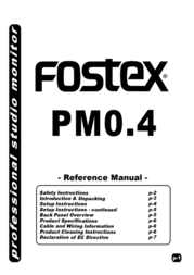 Fostex PM0.4 User Manual