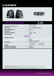 Lasmex S-03 Data Sheet
