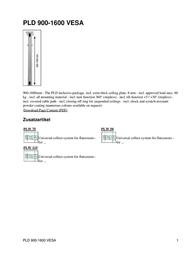 Hagor PLD VESA 900-1600 Leaflet