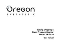 Oregon Scientific BPW810 Blood Pressure Monitor BPW810 User Manual