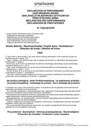 Flamingo Smoke detector FA23 battery-powered FA23 Declaration Of Conformity