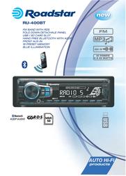 Roadstar RU-400BT Leaflet