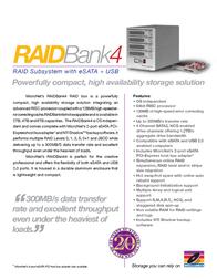 Micronet RAIDBank4 6TB RB6000E Leaflet