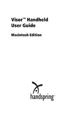 Handspring Visor Handheld Desktop User Manual