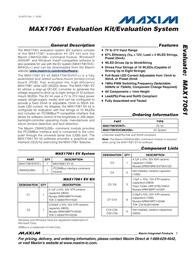 Maxim Integrated MAX17061 Evaluation Kit MAX17061EVKIT+ MAX17061EVKIT+ Data Sheet