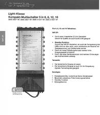 Spaun SMS 5607 NF 815014 Data Sheet