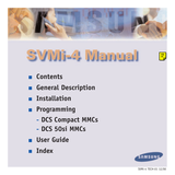 Samsung SVMI-4 User Manual