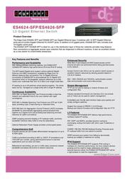 Edge-Core L3 24 Port GE switch 8-port F0P384624000H-C Leaflet
