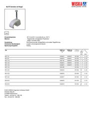Wiska 10060875 WB 11/35 Light grey (RAL 7035) 10060875 Data Sheet