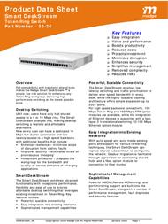 Madge Smart DeskStream Token Ring Workgroup Switch 58-30 Product Datasheet