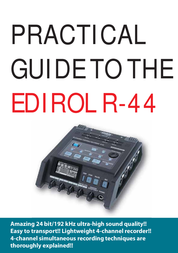 Edirol Recording Equipment R-44 User Manual