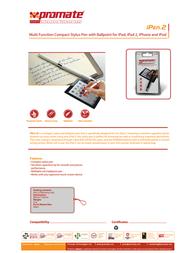 Promate iPen.2 IPEN2W Leaflet