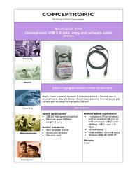Conceptronic USB 2.0 Data copy & Network cable C05-084 Leaflet