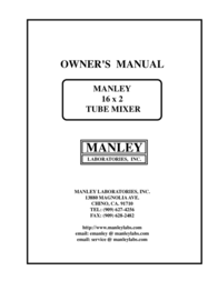 Manley Labs 16 X 2 Tube Mixer User Manual
