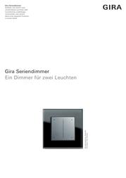 Gira Dimmer 226401 226401 Data Sheet