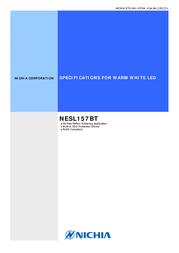 Nichia SMD LED non-standard Warm white 5400 mcd 120 ° 50 mA 2.9 V NESL157BT 데이터 시트