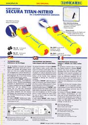Jokari CABLE STRIPPING KNIFE No. 28 H Secura 10280 Diam. 8 - 28 mm and hook blade No.28 Secura 10280 Data Sheet