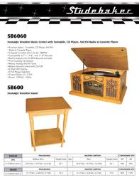 Spectra Studebaker SB6060 Leaflet