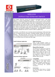 Compex sds1224 Specification Guide