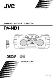 JVC Kaboom Box RV-NB 1 RV-NB1 User Manual