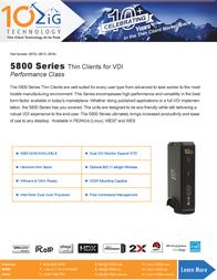 10ZiG Technology 5817v 5817-2637 Prospecto