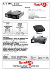 Nanopoint IB-801-B Mobile Multi-Cardreader Black IB-801-B Leaflet