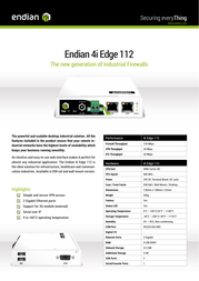 Endian 4i Edge 112 VPN Firewall Specification Guide