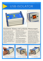 Cesys USB-ISOLATOR C028149 Datenbogen