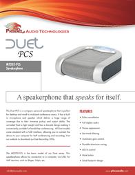 Phoenix Audio Duet PCS MT202-PCO Leaflet