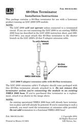 Lowrance 60-ohm terminator Installation Instruction